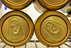Latte di birra dorate Fotografia Stock Libera da Diritti
