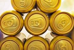 Latte di birra dorate Immagini Stock Libere da Diritti