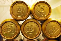 Latte di birra dorate Immagini Stock