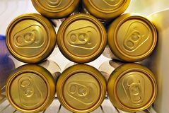 Latte di birra dorate Fotografia Stock