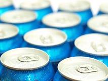 Latte di birra o della soda Fotografia Stock