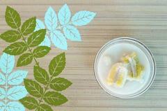 Latte di cocco della banana Fotografia Stock Libera da Diritti