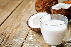 Latte di cocco e noci di cocco Fotografia Stock
