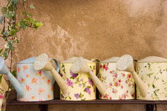 Latte di innaffiatura decorative Immagine Stock