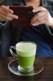 Latte di Matcha fotografie stock