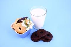 Latte di nad del biscotto Immagine Stock Libera da Diritti