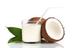 Latte di noce di cocco Fotografia Stock Libera da Diritti