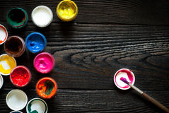Latte di pittura Immagine Stock