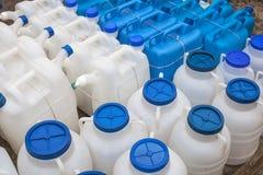 Latte di plastica del gas Fotografia Stock