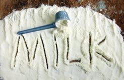 latte di polvere Fotografie Stock