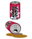 Latte di schiocco di soda Fotografie Stock
