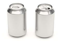 Latte di soda su bianco Immagini Stock Libere da Diritti