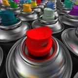 Latte di spruzzo dell'aerosol Immagini Stock Libere da Diritti