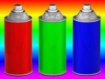 Latte di spruzzo di colore Immagine Stock