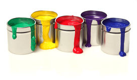 Latte di vernice Fotografia Stock