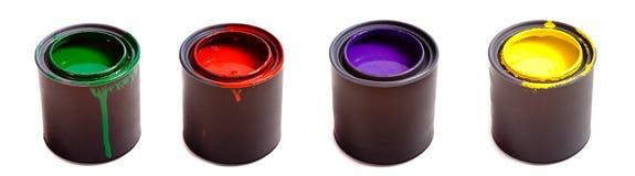 Latte di vernice Fotografie Stock