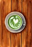 Latte do chá verde imagens de stock royalty free