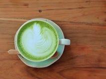Latte do chá verde de Matcha fotos de stock royalty free