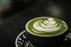 Latte do ch? verde imagem de stock royalty free