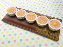 Latte dolce rosa misto del ginkgo Fotografia Stock