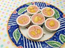Latte dolce rosa misto del ginkgo e sesamo bianco Immagine Stock Libera da Diritti