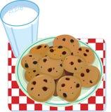 Latte e biscotti Immagini Stock