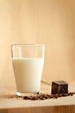 Latte e cioccolato Fotografie Stock Libere da Diritti