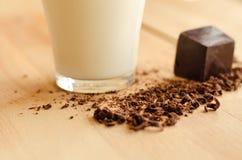 Latte e cioccolato Fotografia Stock