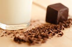 Latte e cioccolato Immagine Stock
