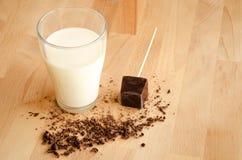 Latte e cioccolato Fotografia Stock Libera da Diritti
