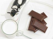 Latte e cioccolato freschi fotografia stock
