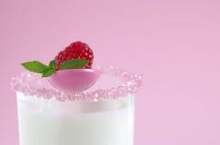 Latte e lampone Fotografia Stock
