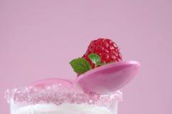 Latte e lampone Fotografie Stock Libere da Diritti