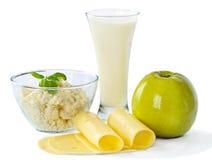 Latte e mela immagini stock libere da diritti