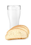Latte e pane immagini stock libere da diritti