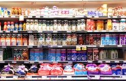 Latte e prodotti lattier-caseario Fotografie Stock