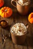 Latte fait maison d'épice de potiron images stock