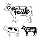 Latte fresco Vettore Immagini Stock