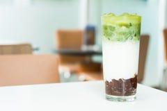 Latte glacé de thé vert de macha photo libre de droits