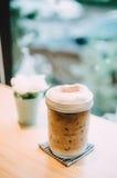 Latte helado de la moca Foto de archivo libre de regalías