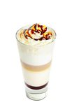 Latte isolated on white Stock Images
