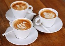 Latte kaffe Arkivfoto