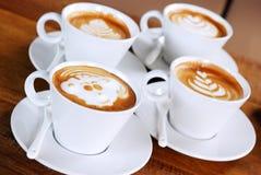 Latte kaffe Royaltyfri Bild