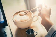 Latte kaffe Arkivbilder