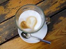 Latte kawa Zdjęcia Royalty Free
