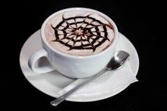 Latte-Kunstkaffee stockfotografie