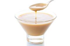 Latte liquido condensato Fotografia Stock