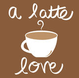 A Latte Love Coffee Royalty Free Stock Photography