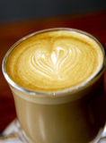 Latte Love Heart Coffee Royalty Free Stock Photos