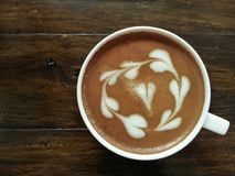 Latte with love. Love message through latte art Stock Images